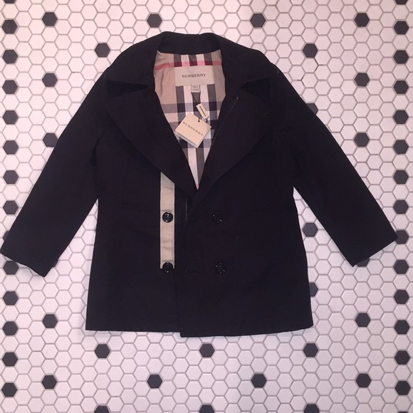 online enjoy lowest price new specials NEW $350 Burberry Black Peacoat 5T Boy or Girl NWT